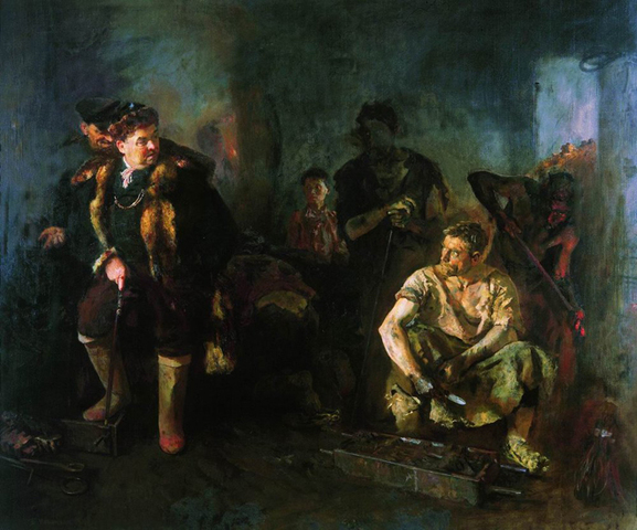 Борис Иогансон. На старом уральском заводе. 1937 год