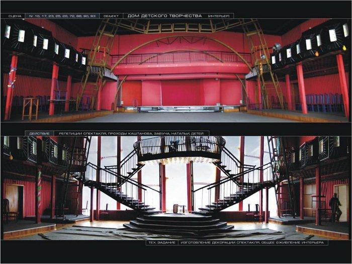 План съёмок сцены «Реактора»