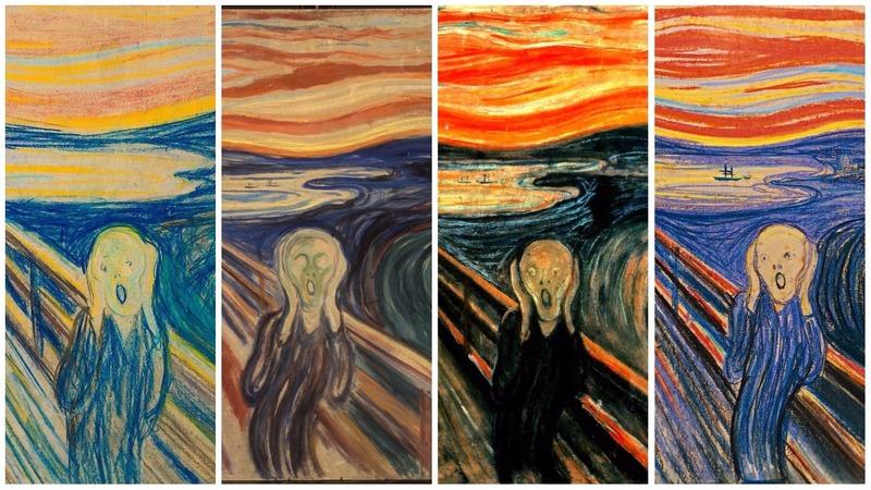 Варианты картины Мунка «Крик»