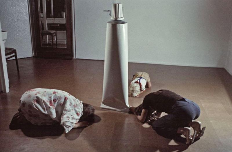'Activities with a tube' by KwieKulik, 1975