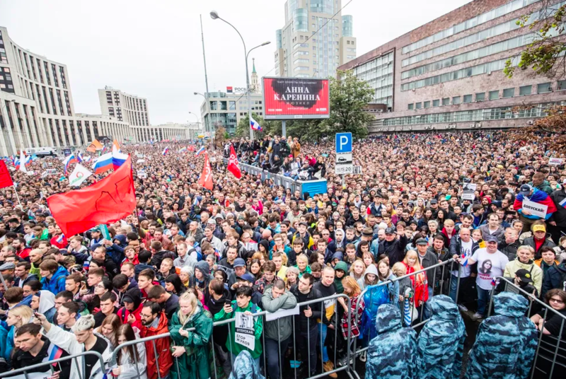 Митинг 10 августа, Москва. Евгений Фельдман для «Медузы»
