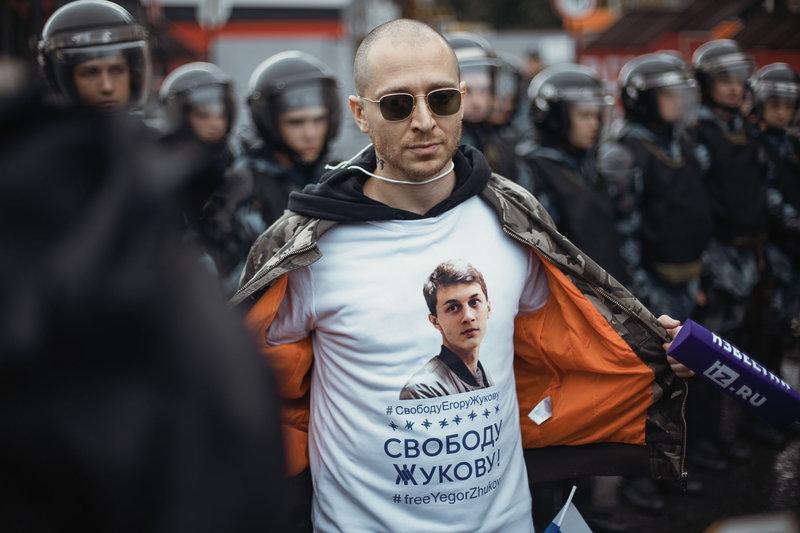 Митинг 10 августа, Москва. Фото Георгия Малеца