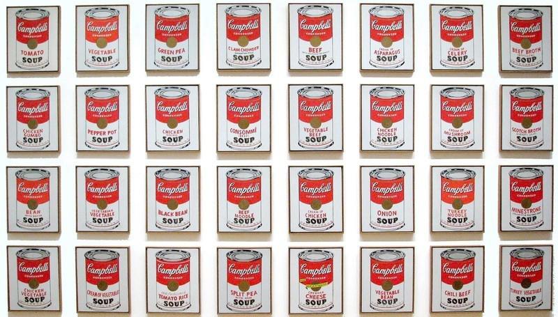 Картина «Банки с супом Кэмпбелл», Энди Уорхол