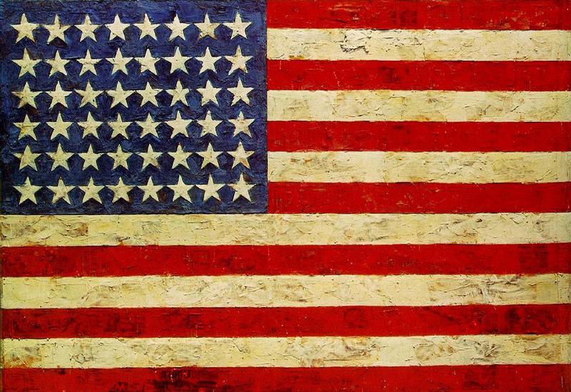 Джаспер Джонс. Флаг, 1954-55