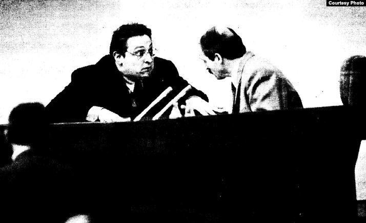 Александр Федута и Александр Лукашенко, Минск, 1994.