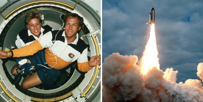 Слева: Джен Дэвис и Марк Ли, первая супружеская пара в космосе. Фото: GETTY IMAGES