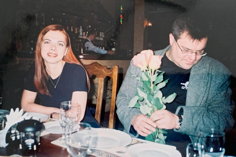 Виктор с супругой Мариной. В 2017 году она трагически погибла во время дайвинга