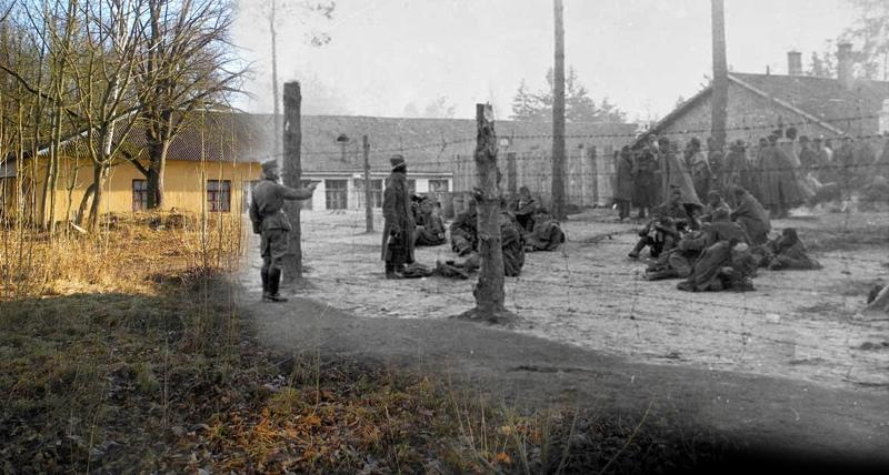 Здание столовой, где питались советские военнопленные, а с 1944 года – немецкие пленные в советском лагере НКВД №168