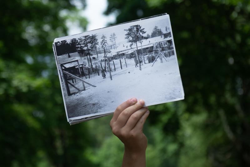 Так выглядела часть концлагеря, где содержали военнопленных. 1941-1942 гг.