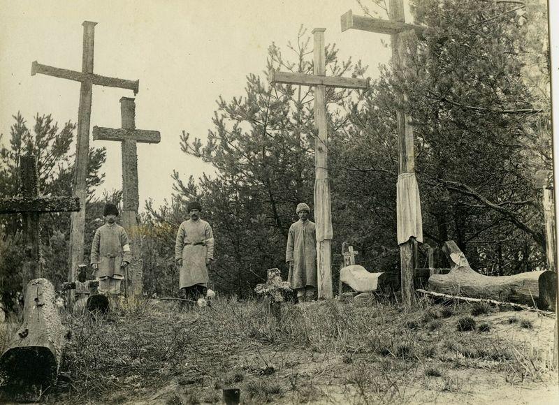 Кладбище в д. Заречка (Дрогичинский район, Брестская обл.). Фотоснимок 1916 года