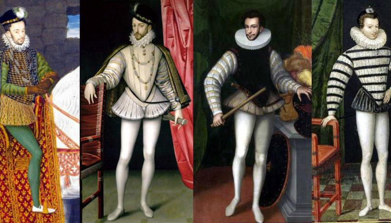 Позже штанины стали сшивать между собой и в моду вошли вот такие мужские «шортики» – это тоже шоссы