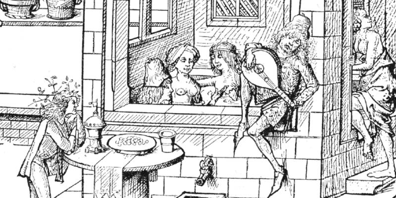Средневековая купальня, где ели, пили и устраивали оргии