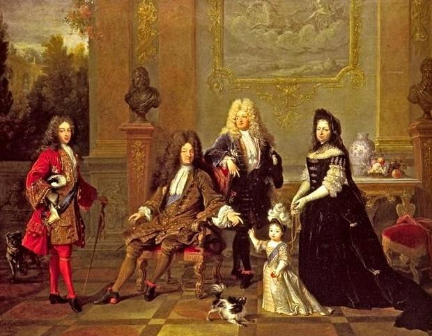 Портрет Людовика XIV с семьей, Николя де Ларжийер