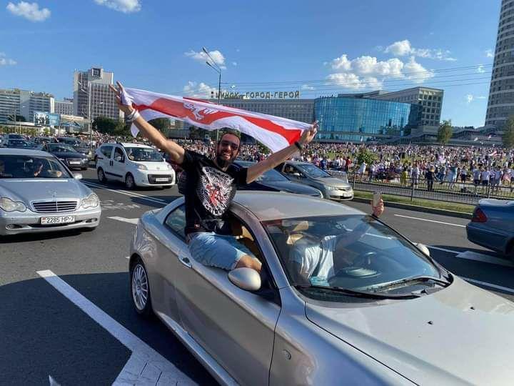 Андрей на акции 16 августа