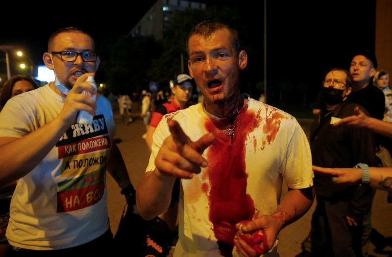 Акции протеста в Минске, 10 августа 2020 года. REUTERS/Vasily Fedosenko