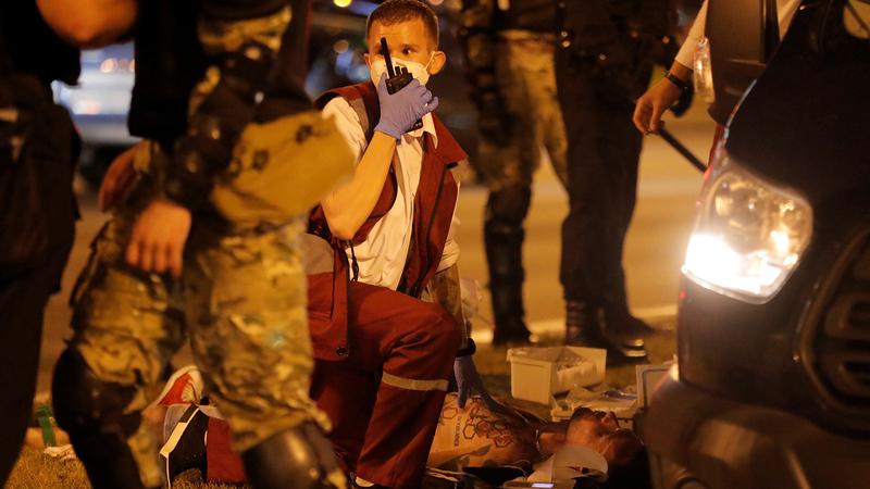 Протесты 9 августа. Фото: Vasily Fedosenko/Reuters