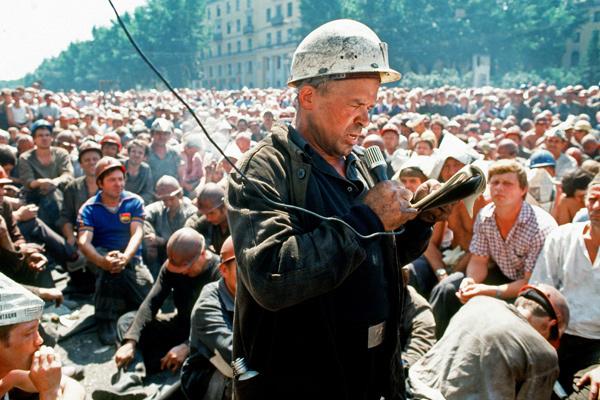 Митинг шахтеров Кузбасса на центральной площади Прокопьевска, 15 июля 1989 года. Фото: Дмитрий Коробейников / РИА Новости