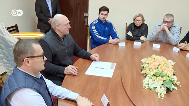 Юрий Воскресенский на встрече с Лукашенко в СИЗО КГБ