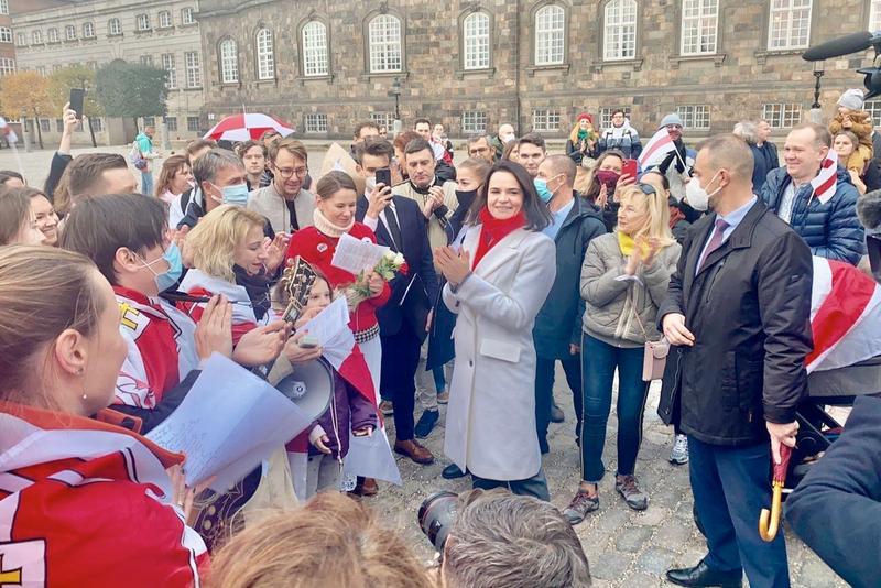 Тихановская в Дании встретилась с премьер-министром и прошла маршем с белорусами