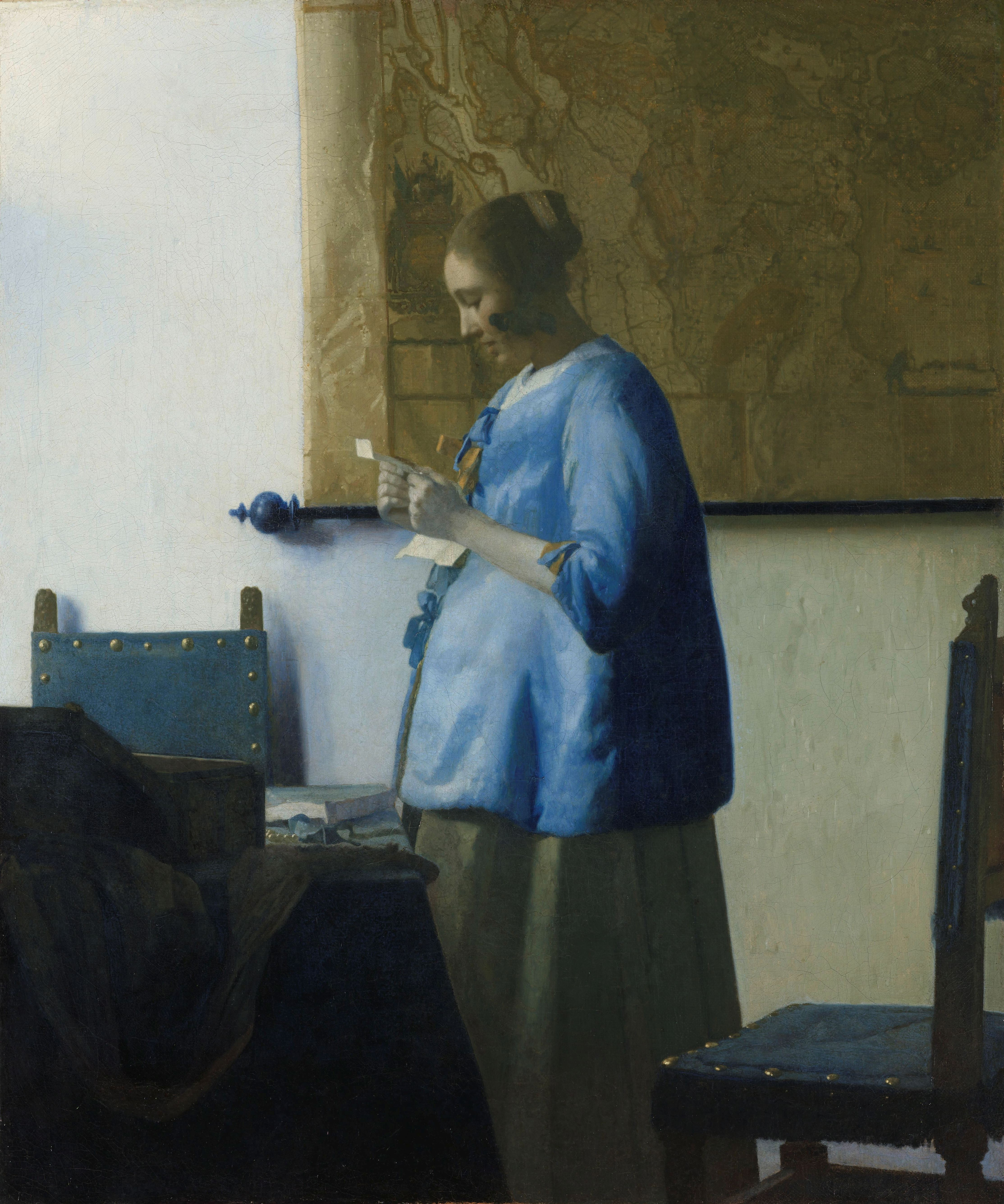 Woman Reading a Letter, Johannes Vermeer, 1663
