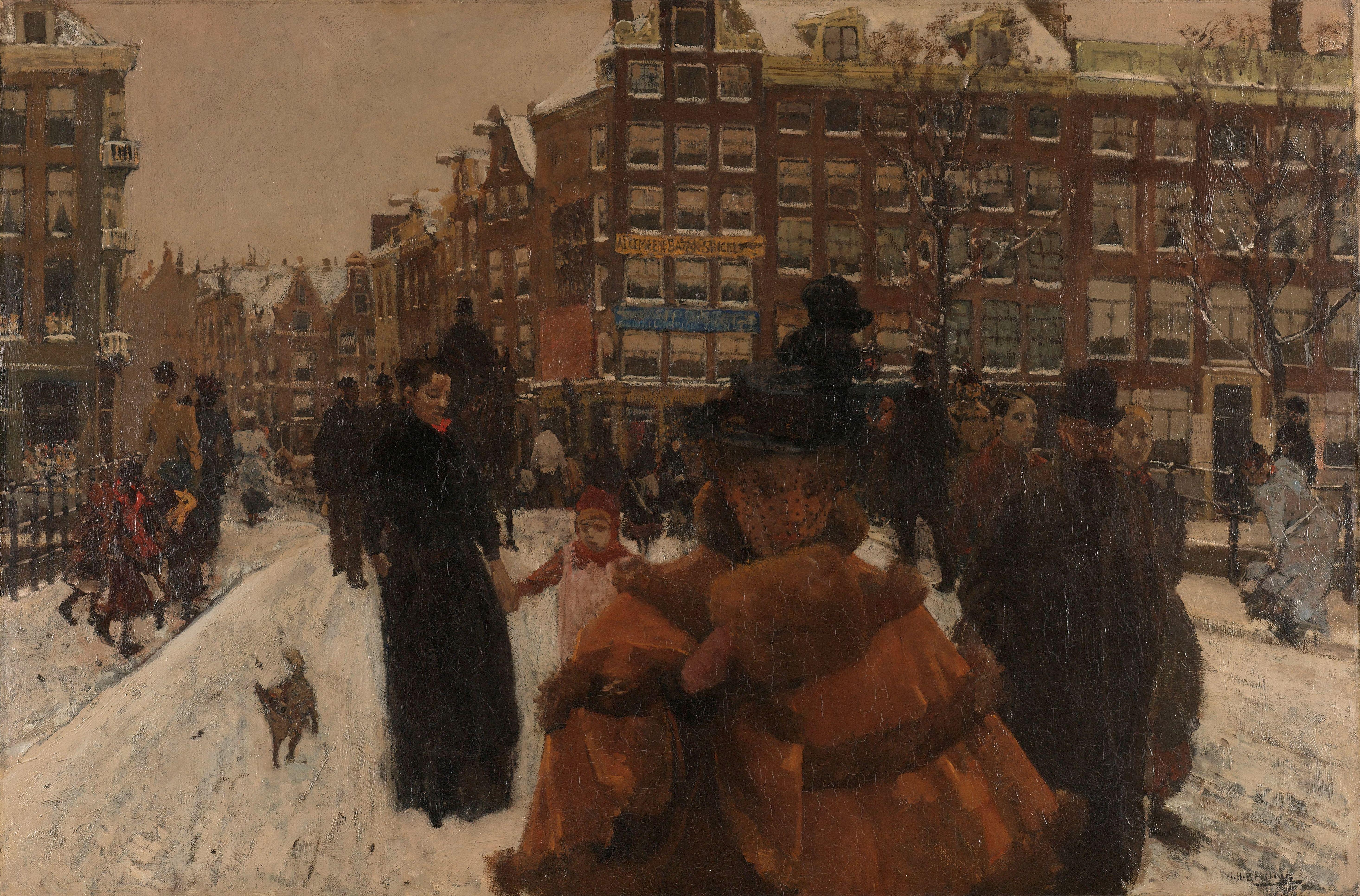 The Singel Bridge at the Paleisstraat in Amsterdam, George Hendrik Breitner, 1898