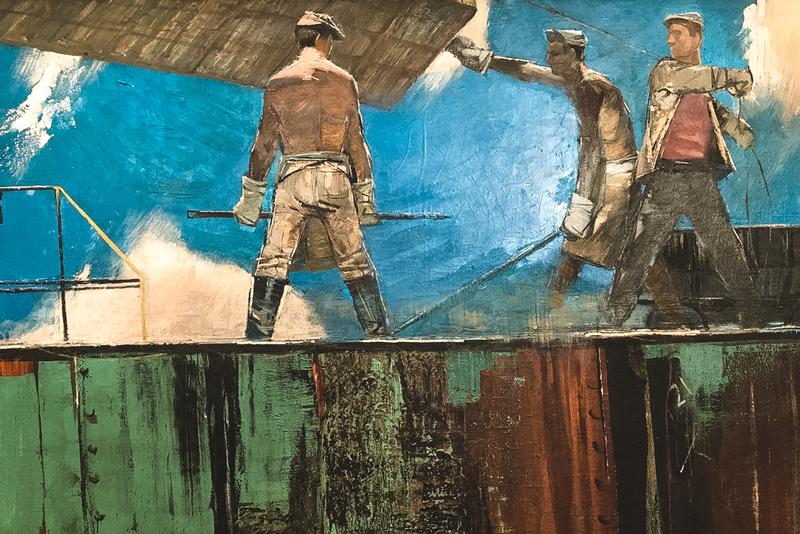 Гунарс Митревикс «Над рекой Даугавой», 1960