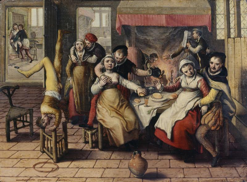 Публичный дом в Европе. Картина кисти Иоахима Бейкелара «Бордель» (XVI в.)