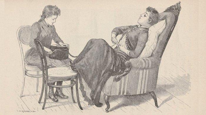 Иллюстрация процесса лечения вибратором