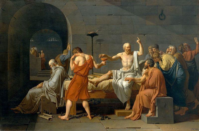 Жак-Луи Давид «Смерть Сократа»