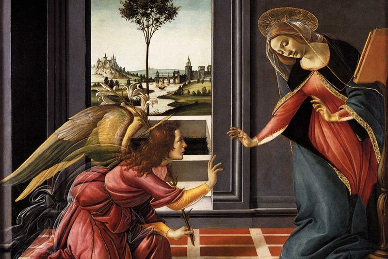 Благовещение. Сандро Боттичелли. 1489 -1490.