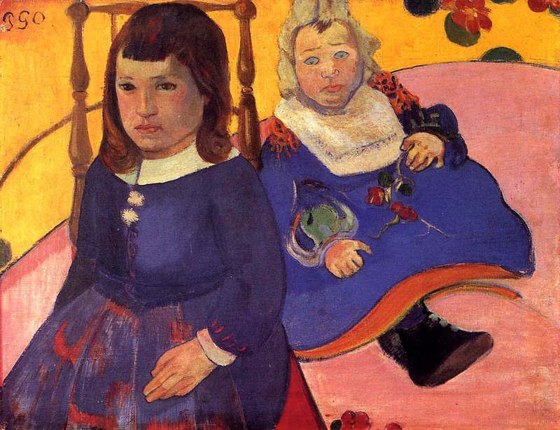 «Портрет двух детей», Поль Гоген