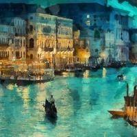 Thumb 523576 noch veneciya ogni kanal svet lodki italiya doma a 4800x3000 www.gde fon.com