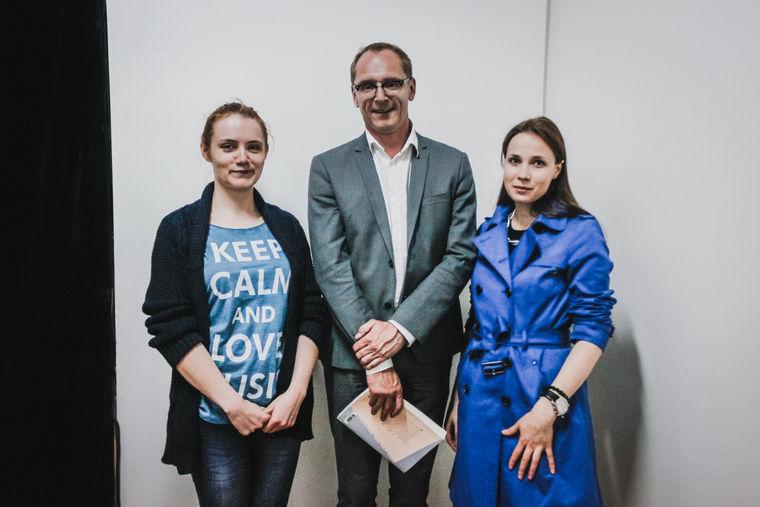 Антонина Серякова, Ксавье ле Торривеллек и Анна Карпенко