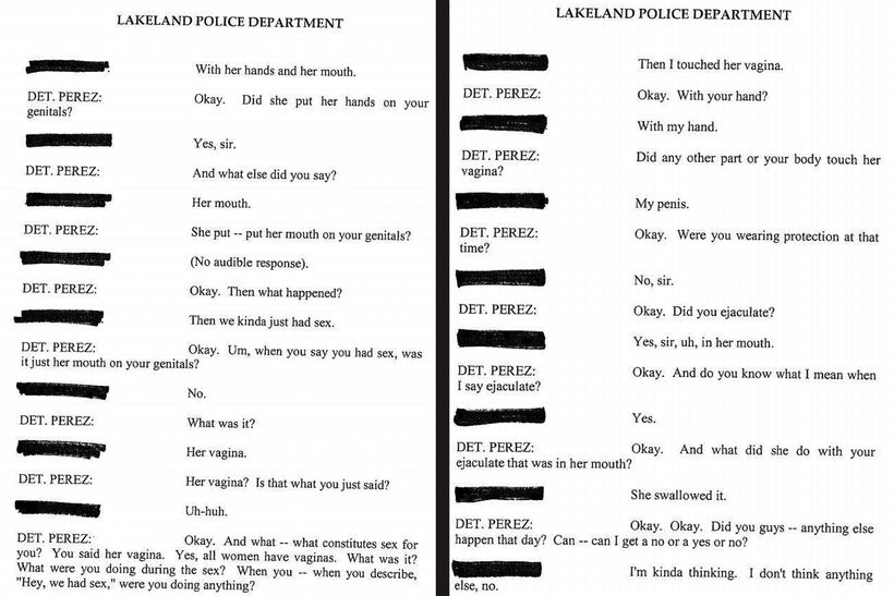 Вырезки из показания старшеклассника