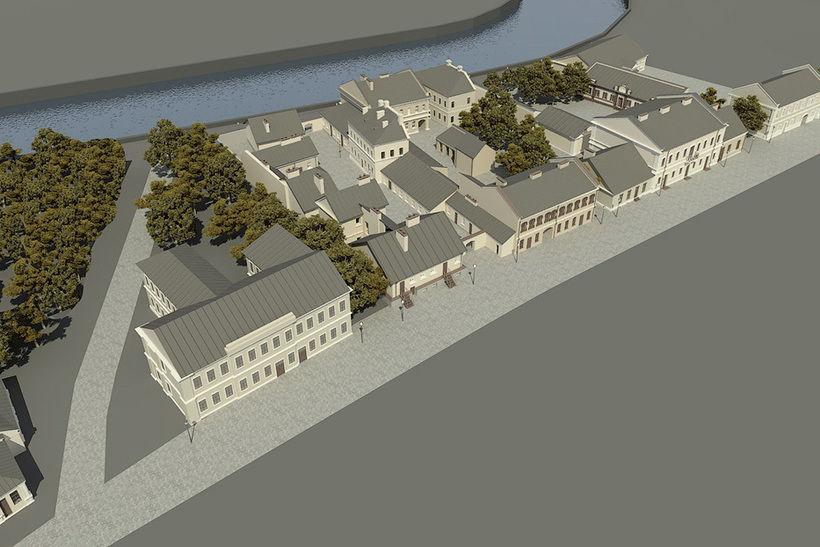Непринятый план реконструкции улицы Зыбицкой (Торговой), разработанный Товариществом охраны памятников
