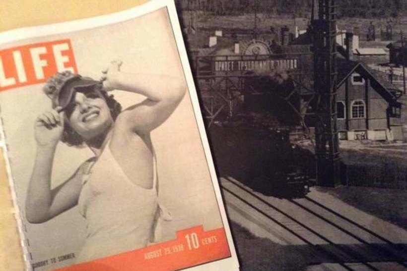 Амерыканскі часопіс Life 1938 года са здымкамі са Стоўбцаў, Коласава