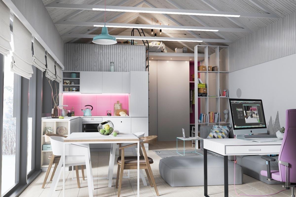 Один из интерьеров для модульного дома от Zrobym Architects
