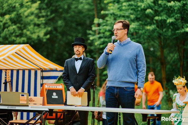 Григорий Померанцев на сырном фестивале, фото: Relax.by