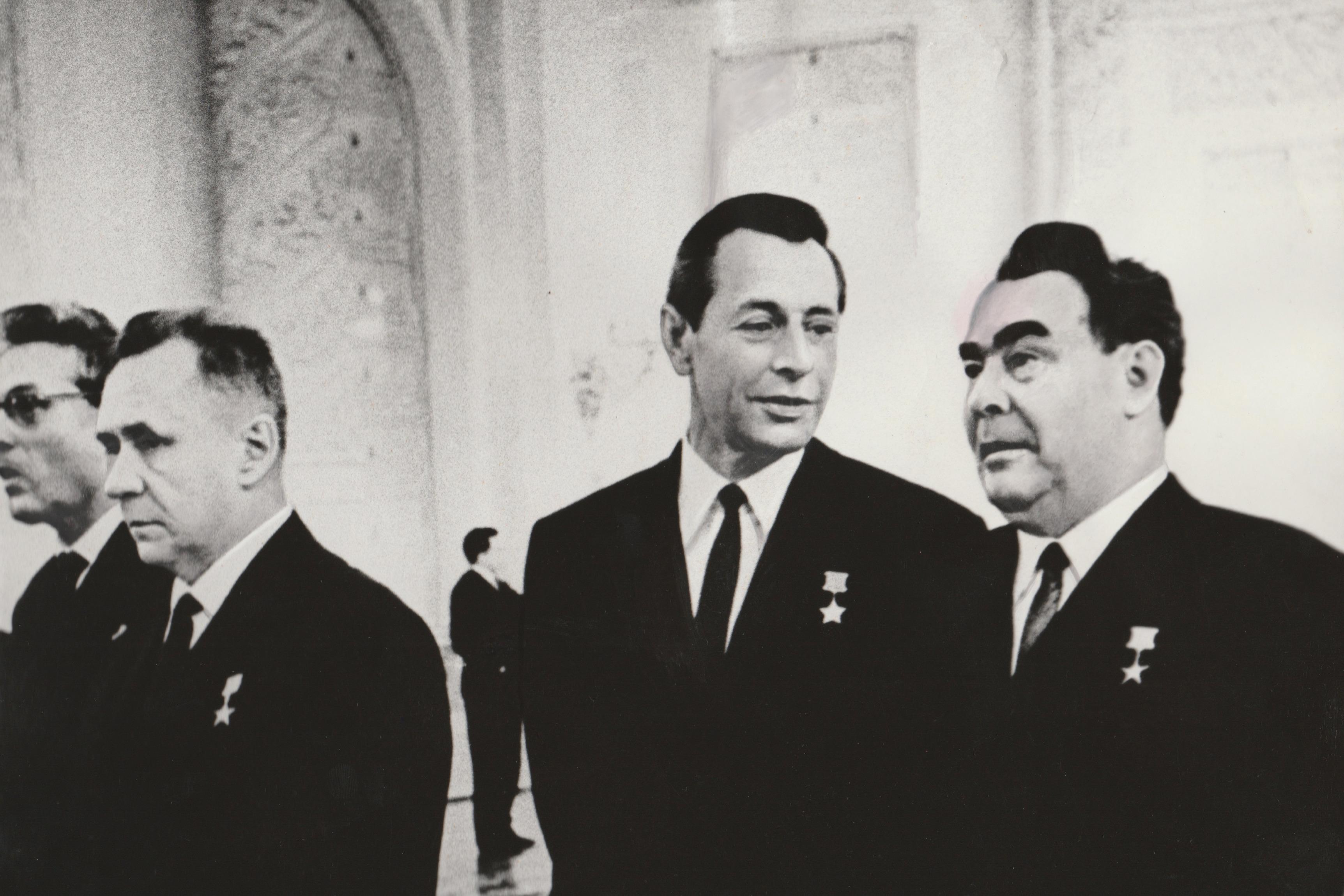 Пётр Машеров с Леонидом Брежневым в Кремлёвском дворце