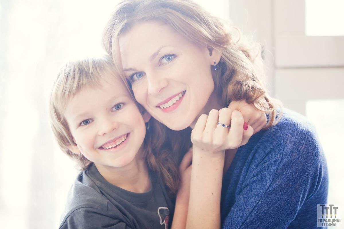 Анна Трубачёва с сыном