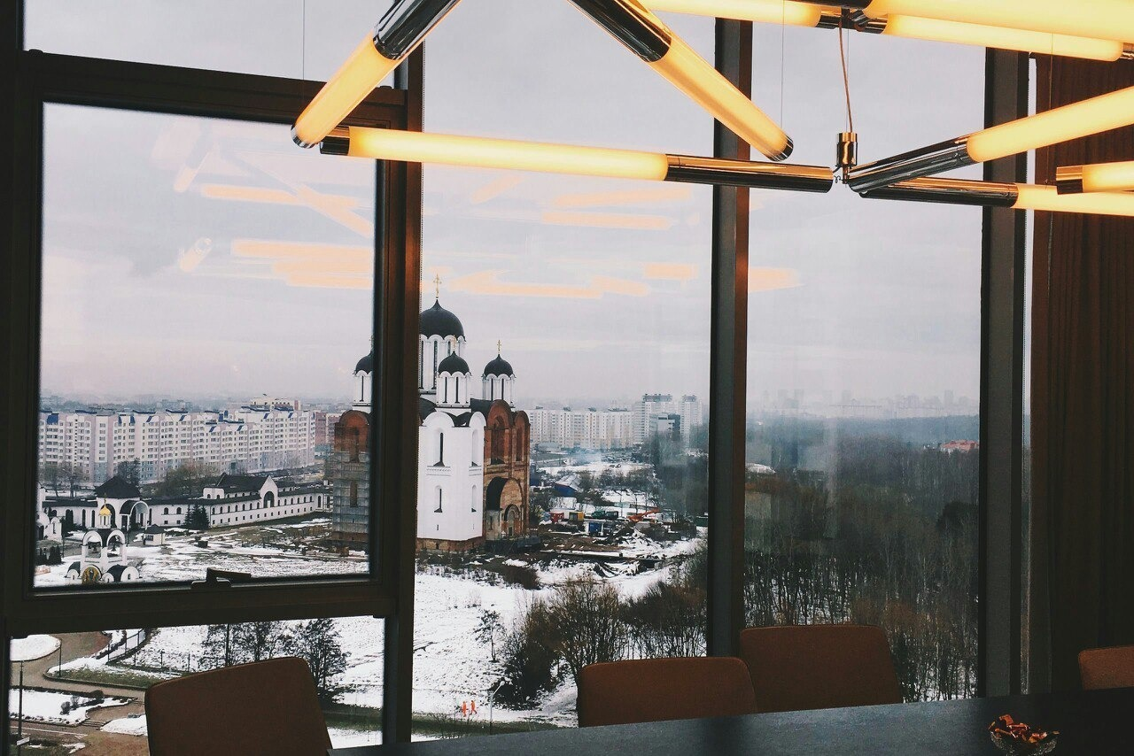 Вид из окна кабинета Сергея Шабана