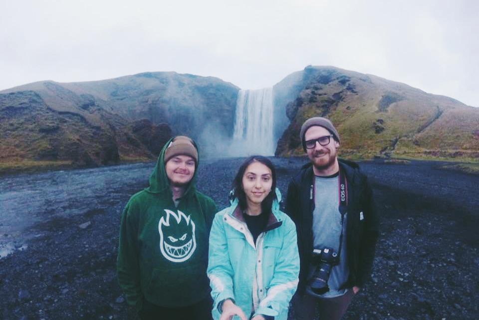 У водопада Skogafoss