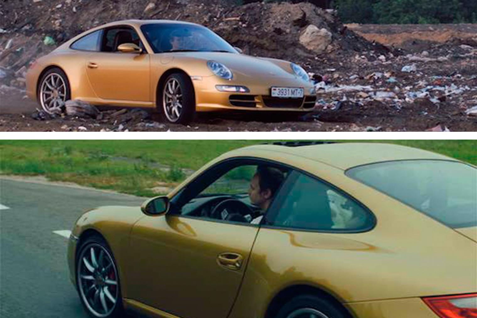 Иван за рулём Porsche 911