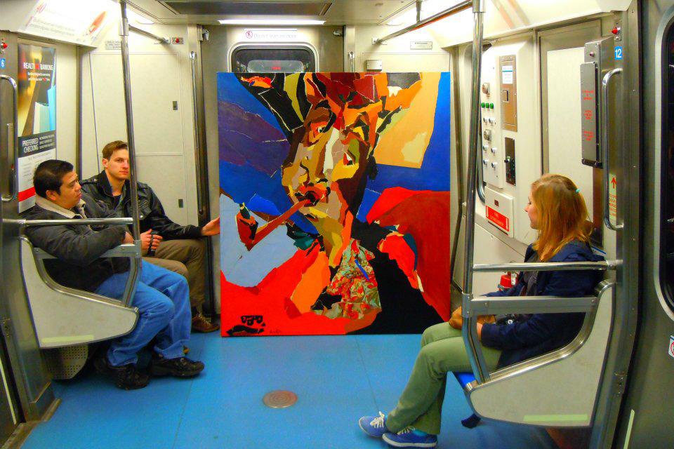 Работа Захара Кудина в метро Нью-Йорка