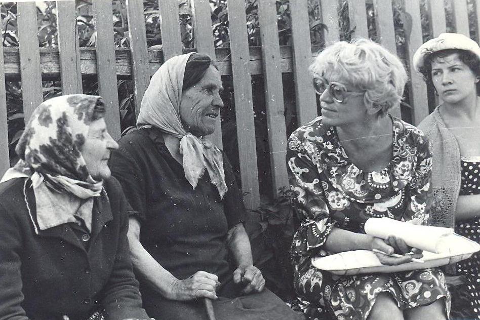 Юрия Чурко в фольклорной экспедиции (1980 - 1987 гг.)