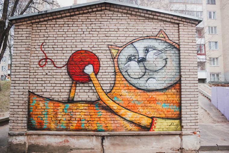 Все еще «живой» кот за магазином на улице Пулихова
