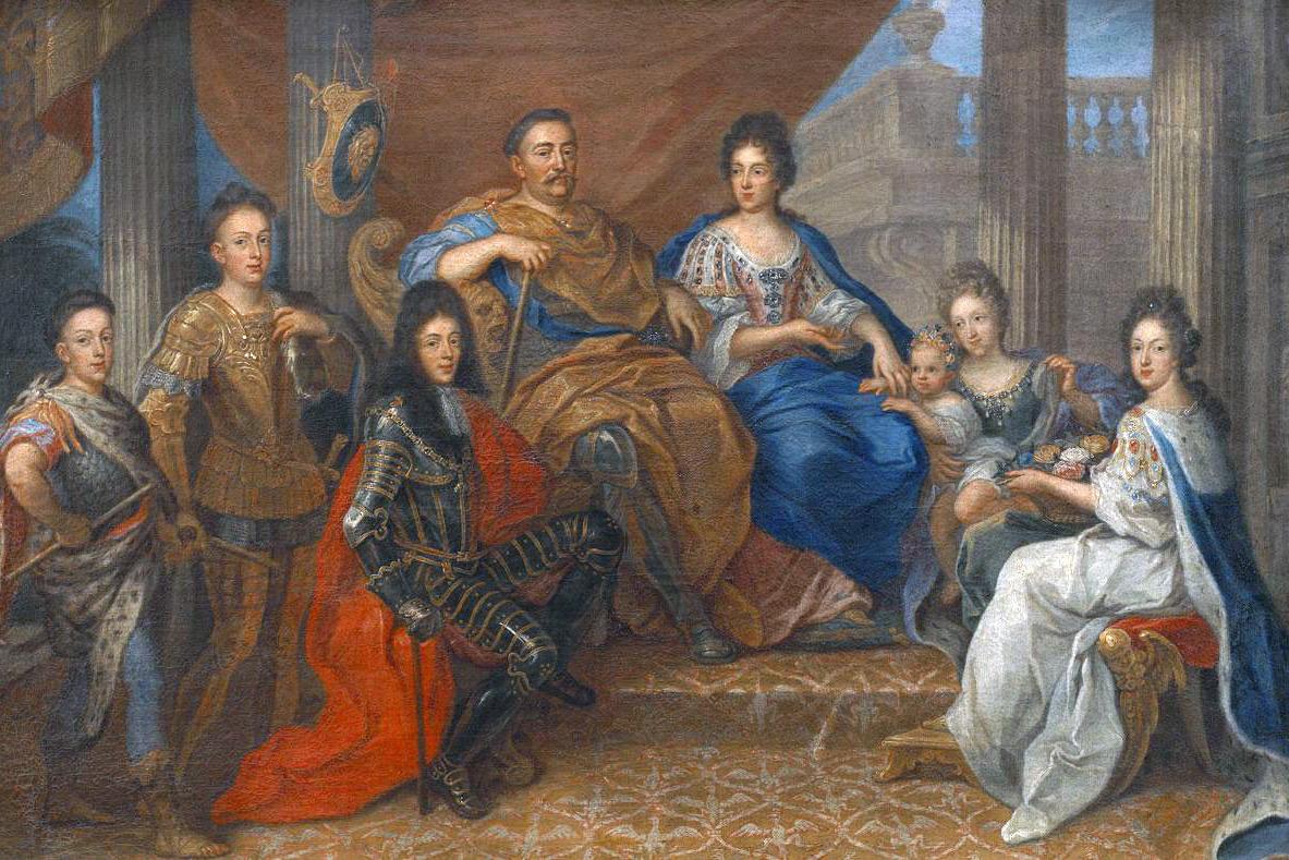 Ян III Собеский с семьёй