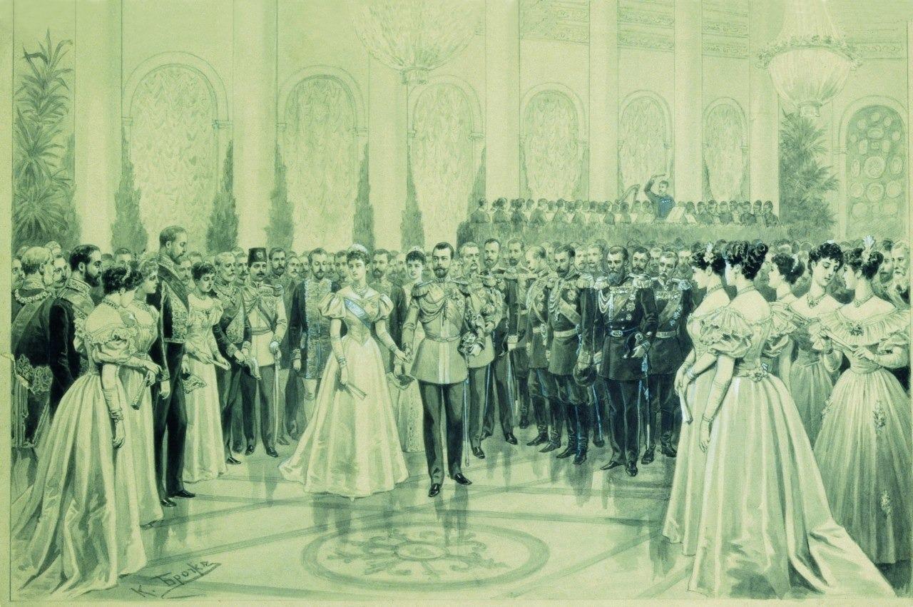 Карл Брож, Придворный бал в Николаевском зале Зимнего дворца
