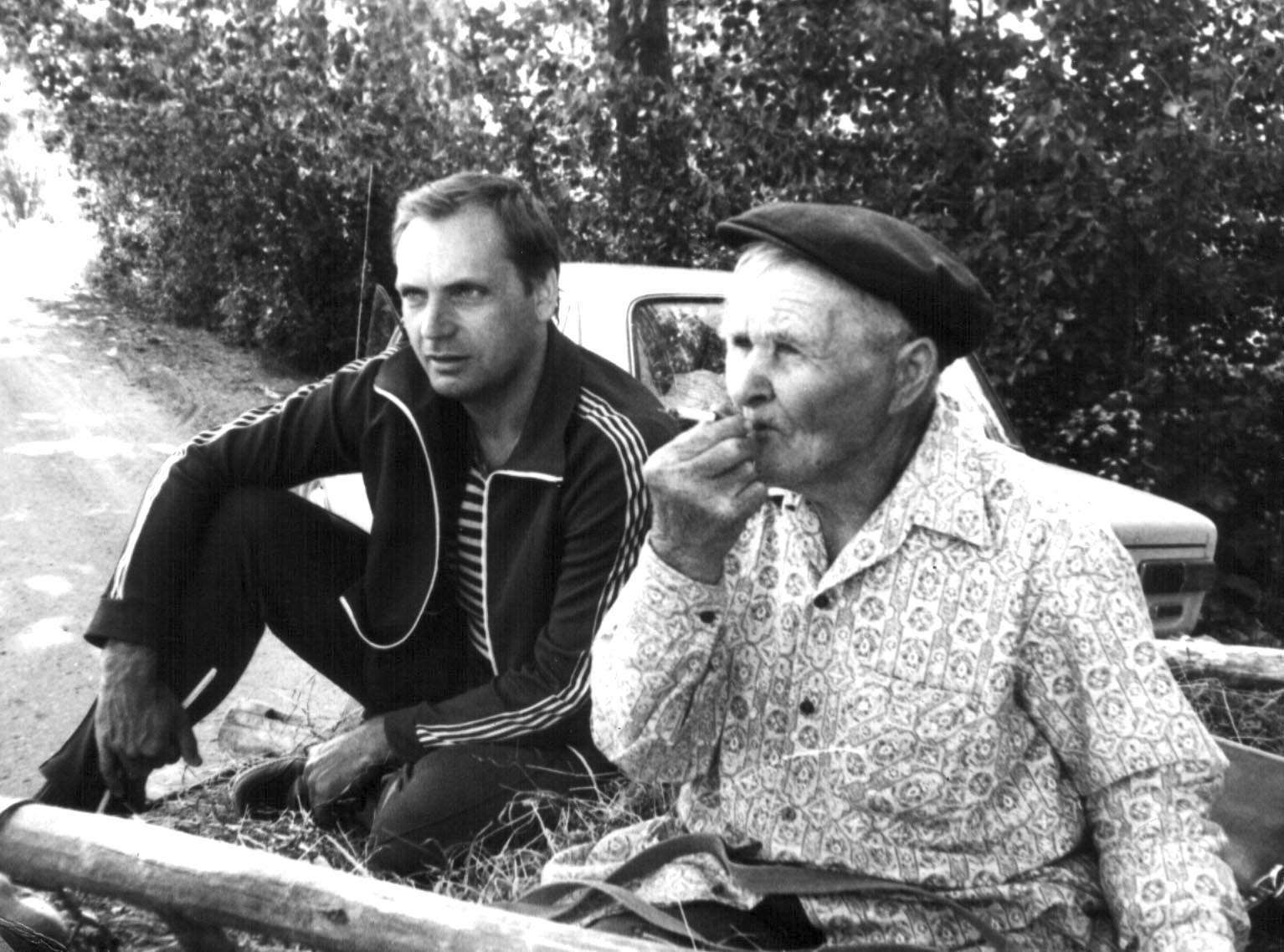 Саша Варламов в фольклорной экспедиции, начало 80-х
