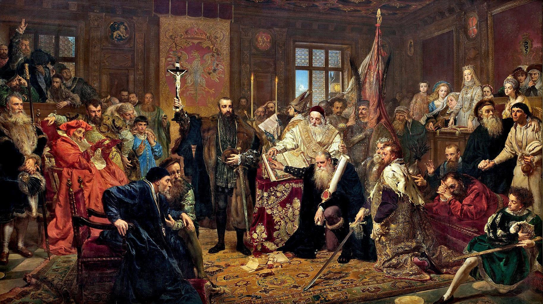 Ян Матейко, Люблинская уния